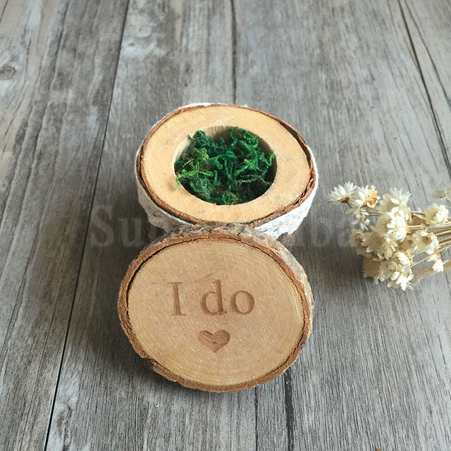 Rustic Wooden Ring Box