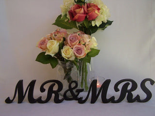"Mr & Mrs Black Wooden 4"" Letters"