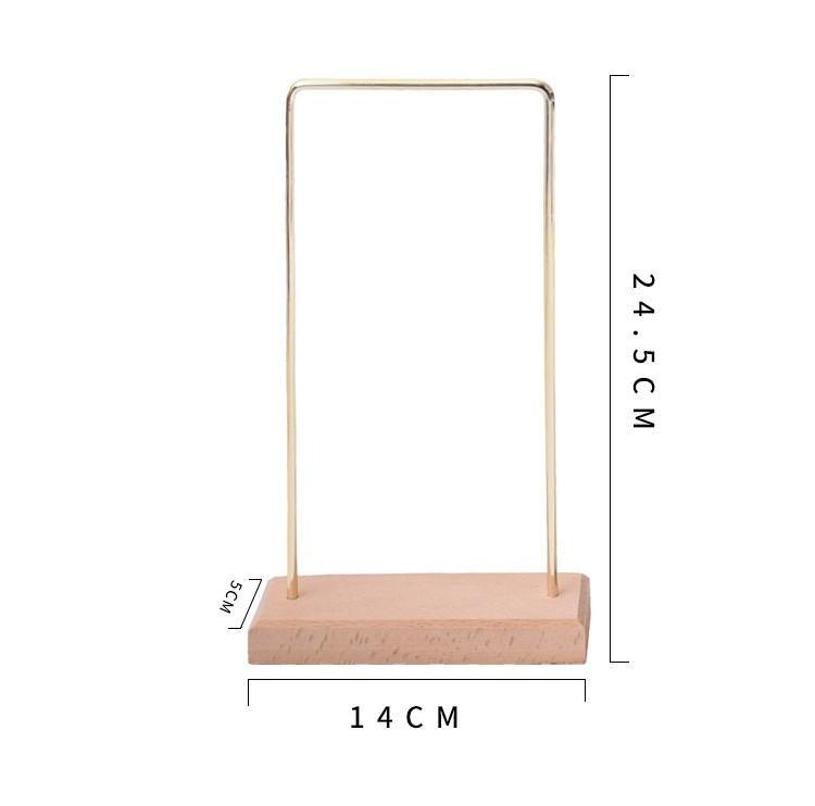 Gold Plated Solid Wood Earrings Display Stand