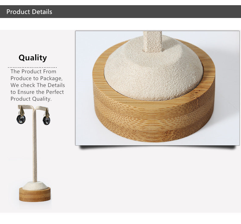 Bamboo & Leather Earring Display Stands