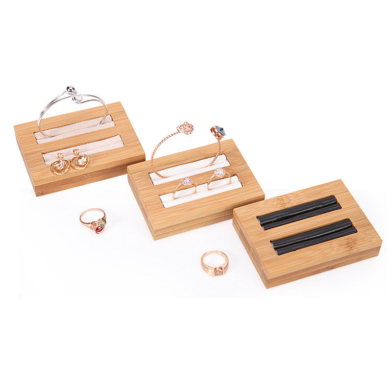 Bamboo Wood Ring & Bangle Display Tray Unique Gift for Her