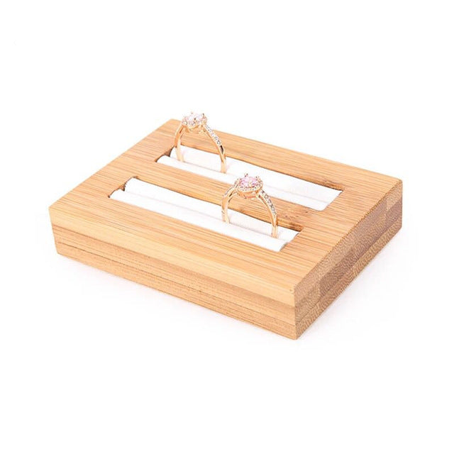 Bamboo Wood Ring & Bangle Display Tray