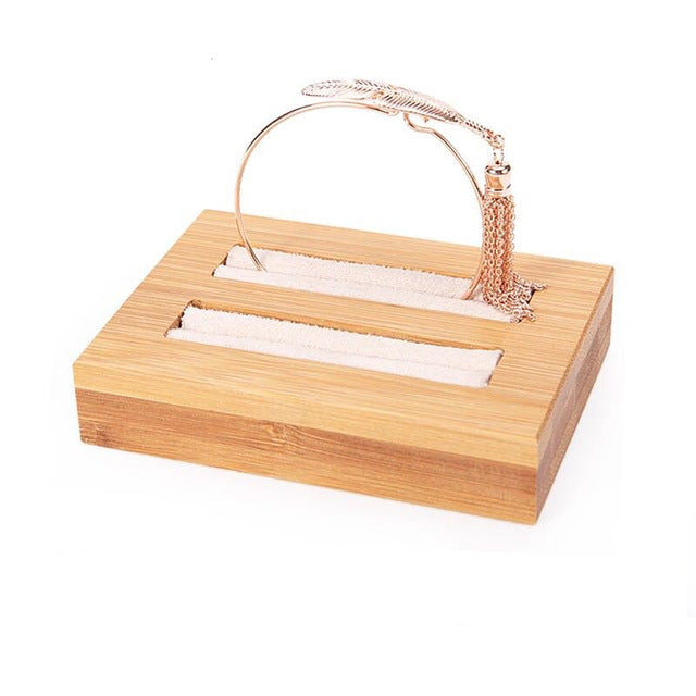 Bamboo Wood Jewelry Holder - Ring & Bangle Display Tray - Jewelry Box