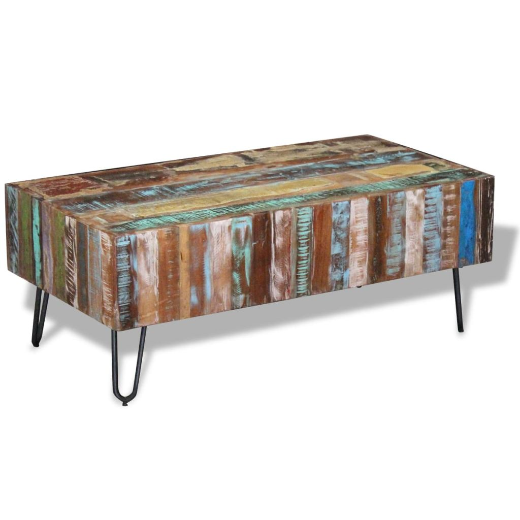 Antique Coffee Table Solid Reclaimed Wood