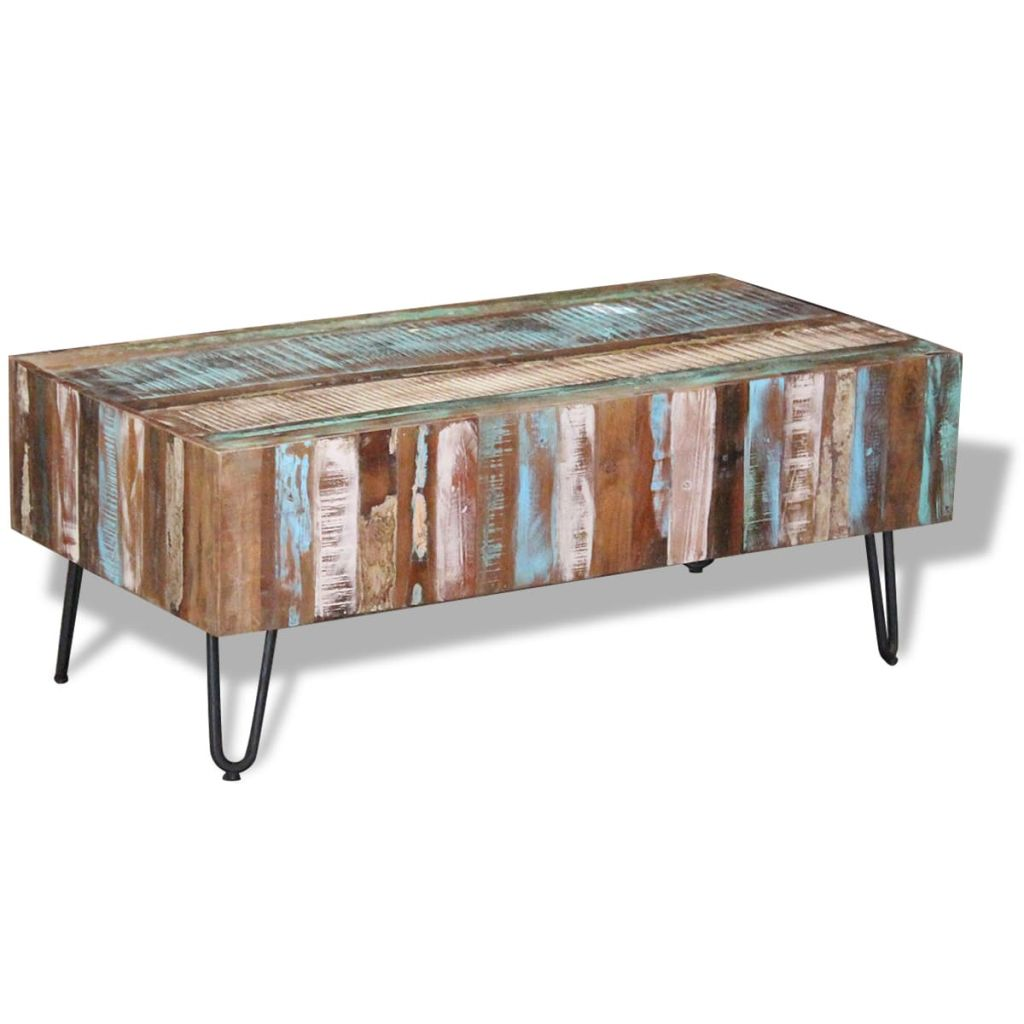 Antique Vintage Coffee Table Solid Reclaimed Wood