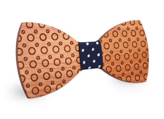 Men's Dot Butterfly Wood Bow Ties