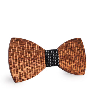Unique Casade Wooden Men's Bow Tie