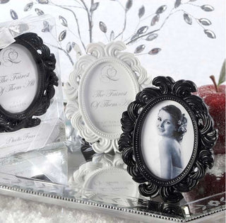 Vintage Oval Baroque Frame Place Card Photo Holder - 10pcs