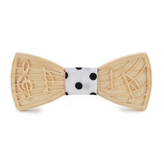 Musical Notes Butterfly Wooden Bow Tie