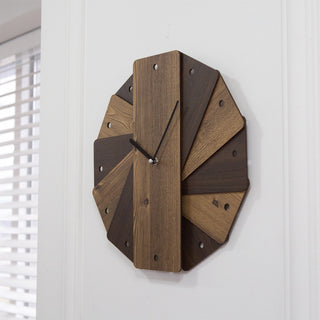 "Decorative Bamboo Wood 14"" Wall Clock"