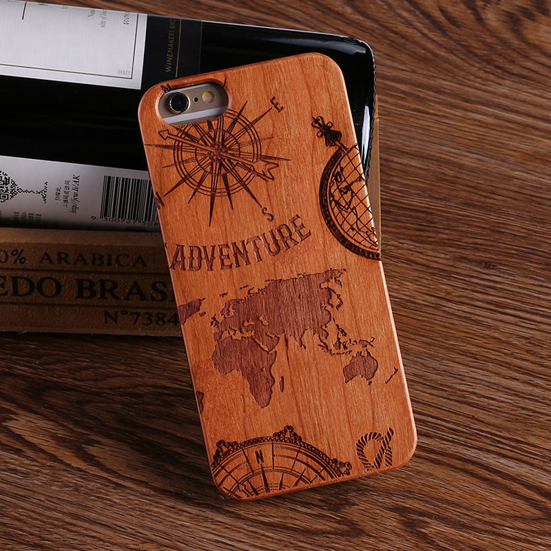Light Wood World Map Wood Samsung & iPhone Case