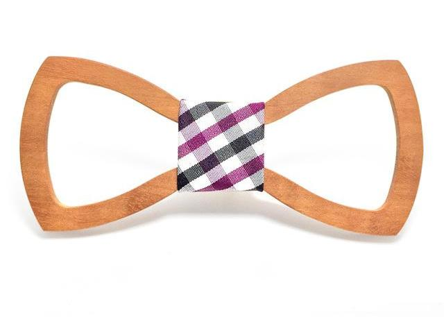 Hollow Butterfly Wood Bow Tie