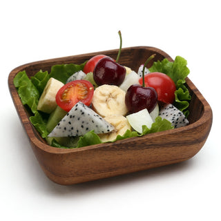 Square Wooden Dinner Bowls