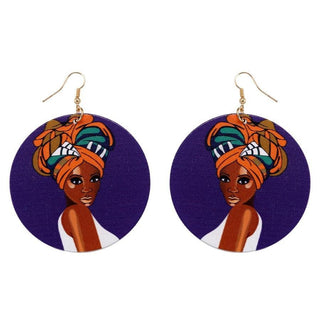 Black Girl Magic - BGM Natural African Women Wooden Earring