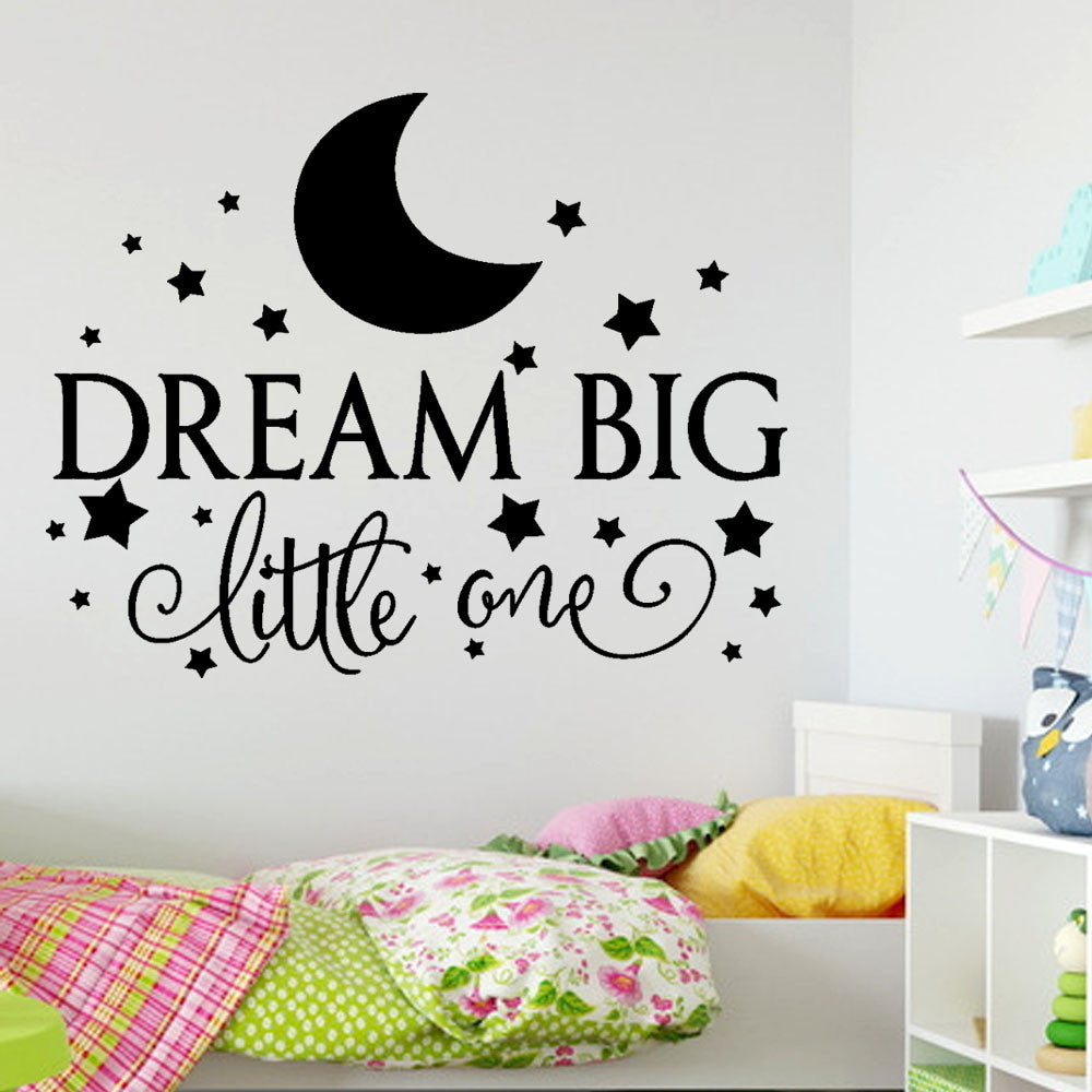 Dream Big Nursery Kids Room Vinyl Wall Decal Sticker
