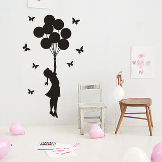 Fly Away Balloon Vinyl Wall Decal Sticker