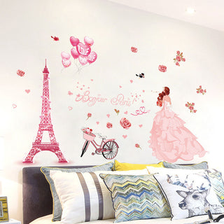 Princess in Paris Vinyl Wall Decal Sticker