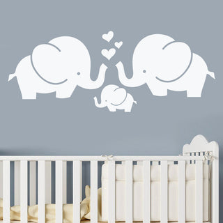Three Elephant Nursery Vinyl Wall Decal Stickers