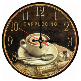 Cappuccino Wooden Quartz Clock