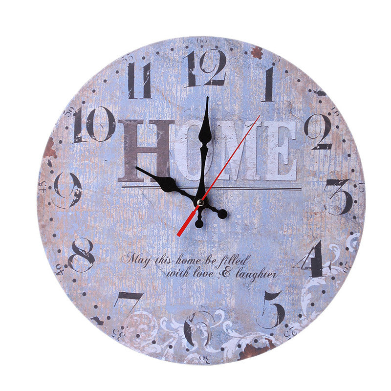 "Home Decor 9"" Wooden Wall Clocks"