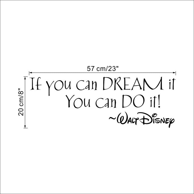 Disney IF YOU CAN DREAM IT YOU CAN DO IT Wall Decal
