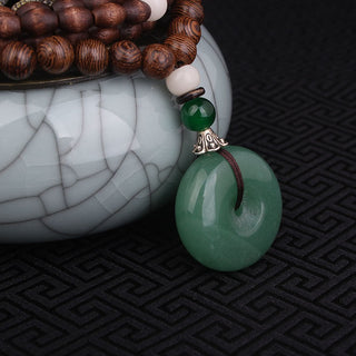 Jade Quartz Sandalwood Long Necklace