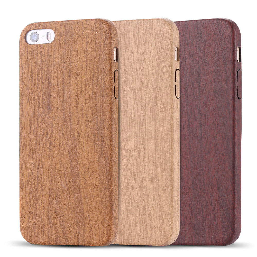 iPhone 7 6 6s Plus Vintage Wood Phone Case with Leather