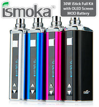30W iStick Full Kit with OLED Screen MOD Battery - 2200mAh fra iSmoka Eleaf