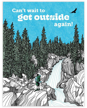 Can't Wait To Get Outside Card