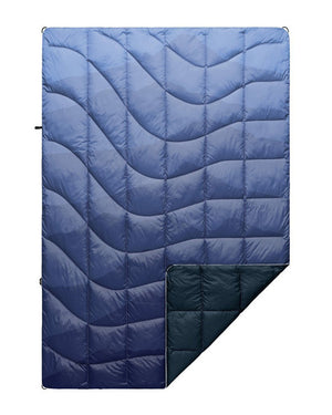 The Down Puffy Blanket - Cascade Fade Blue