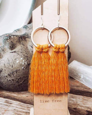 Marigold Fringed Hoops