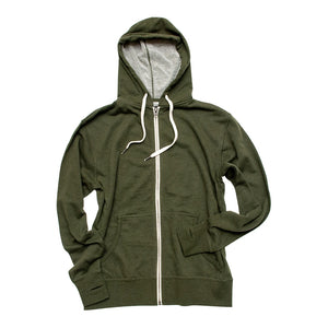 Pine Trees Hooded Zip Sweatshirt