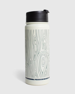 Woodgrain 18 oz. Insulated Steel Travel Bottle - Cream