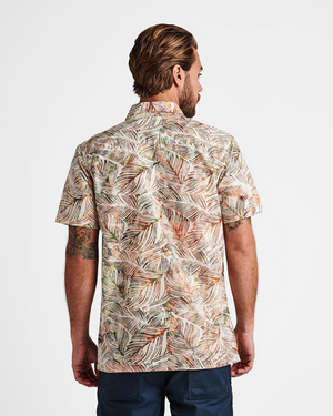 Java Leaf Button Up Short Sleeve