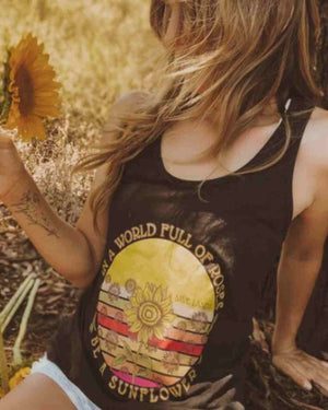 Be A Sunflower Racerback Tank