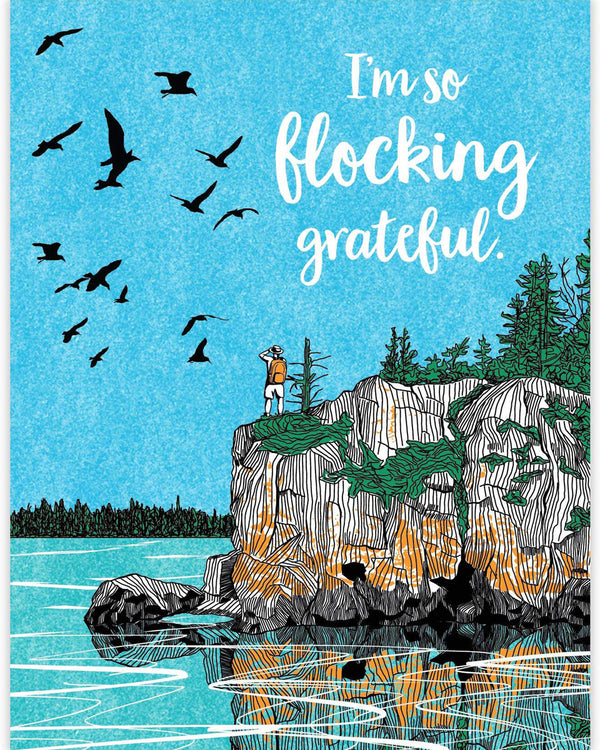 Flocking Grateful Card
