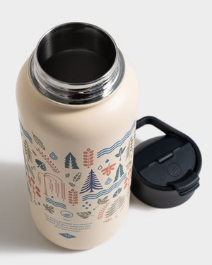 Funky Forest 32 oz. Insulated Steel Water Bottle