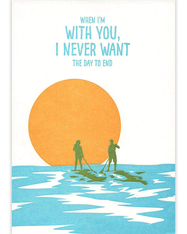 Paddleboard Love Card