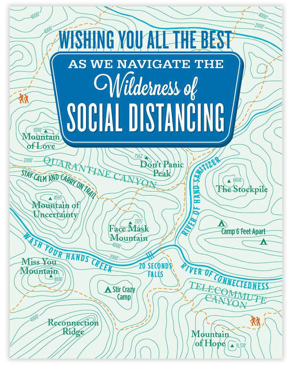 Wilderness of Social Distancing Card