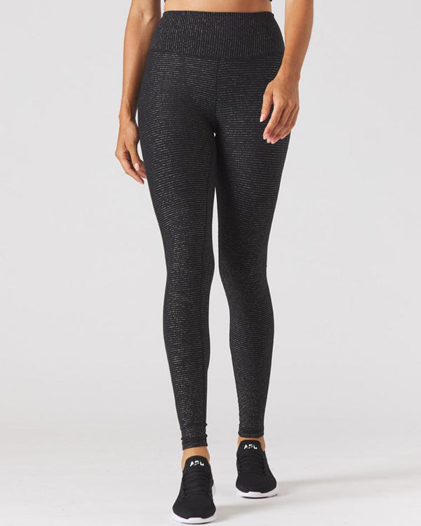 Sultry Legging Black/Gold Shimmer