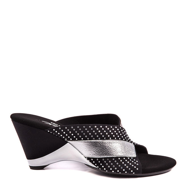 Onex Shoes Angelina, Black Evening Wedge