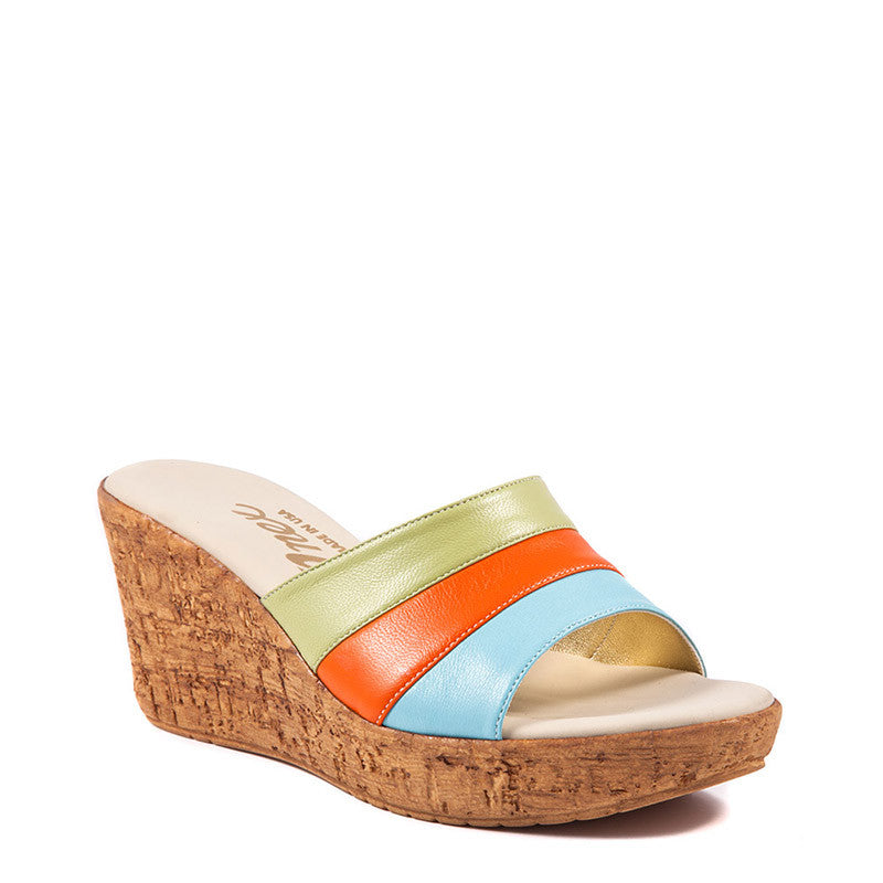 Onex Shoes Balero, Pastel Multi Cork Wedges