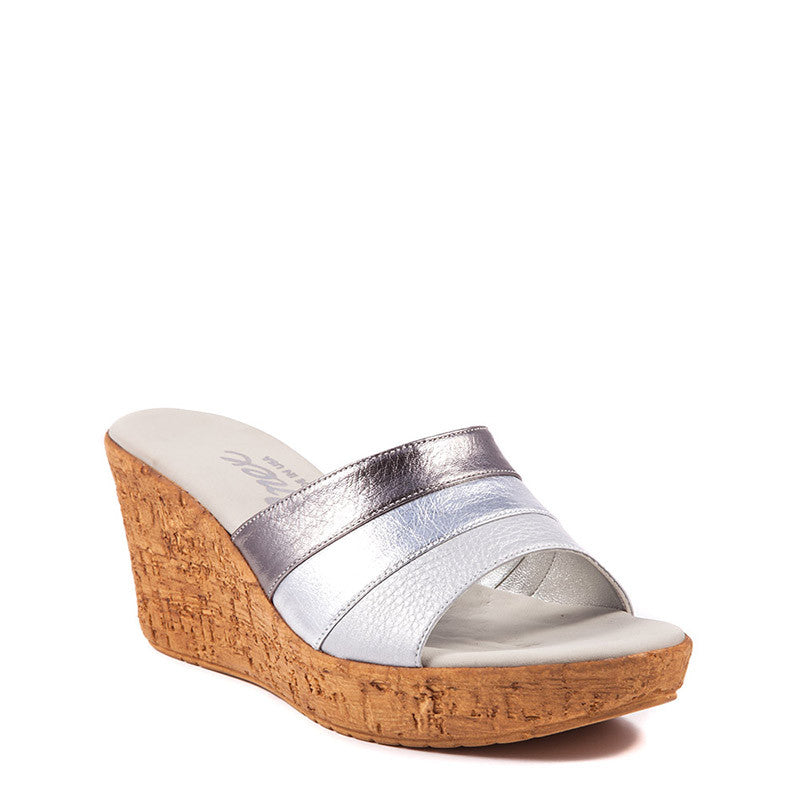 Onex Shoes Balero, Pewter Cork Wedges