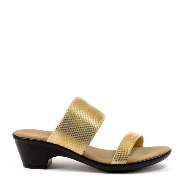 Gold Low Heel Sandal By Onex Shoes