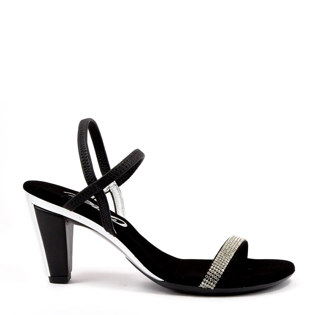 6635b041e Black Strappy Sandals By Onex Shoes   Iced Black Silver – Erik s Shoes