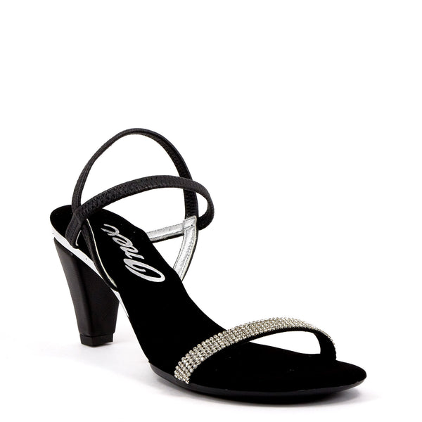 09fadcd5fa44 Black Strappy Sandals By Onex Shoes Black Strappy Sandals By Onex Shoes · Onex  Shoes   Iced Black Silver · Gold Strappy Evening Heel ...