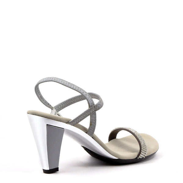 1c538cbfa Silver Low Heel Strappy Sandals By Onex Shoes   Iced Matte Silver Leather –  Erik s Shoes
