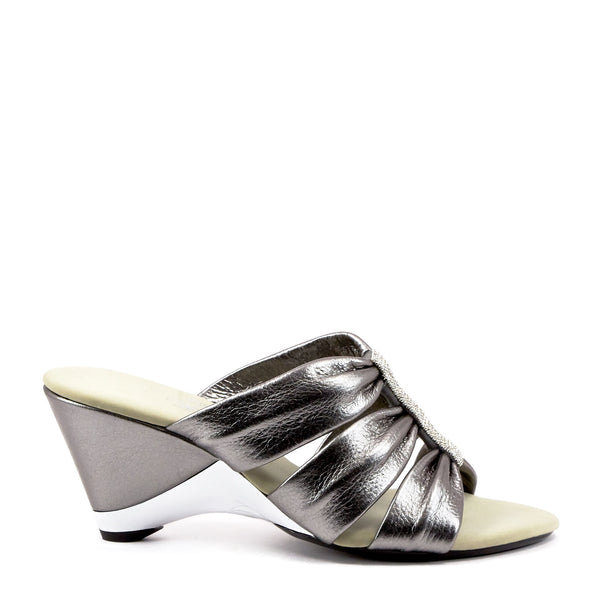 Onex Shoes Silver Dress Wedges