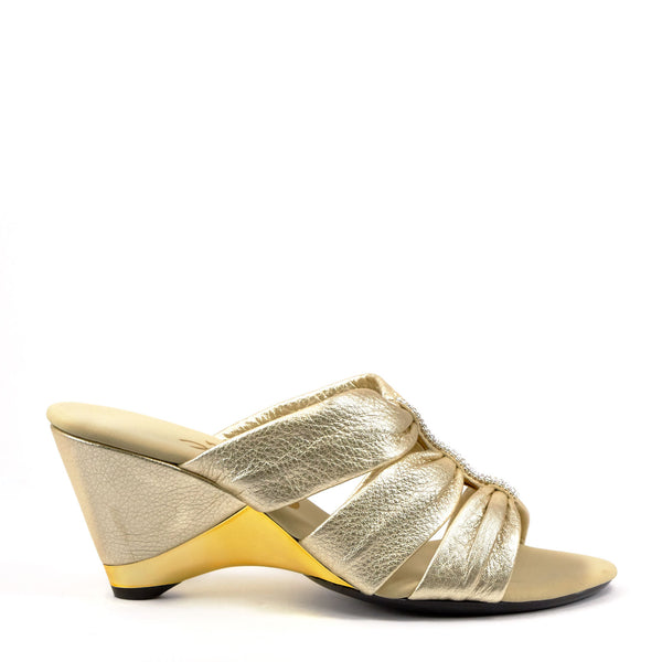 Onex Shoes Gold Dress Wedges