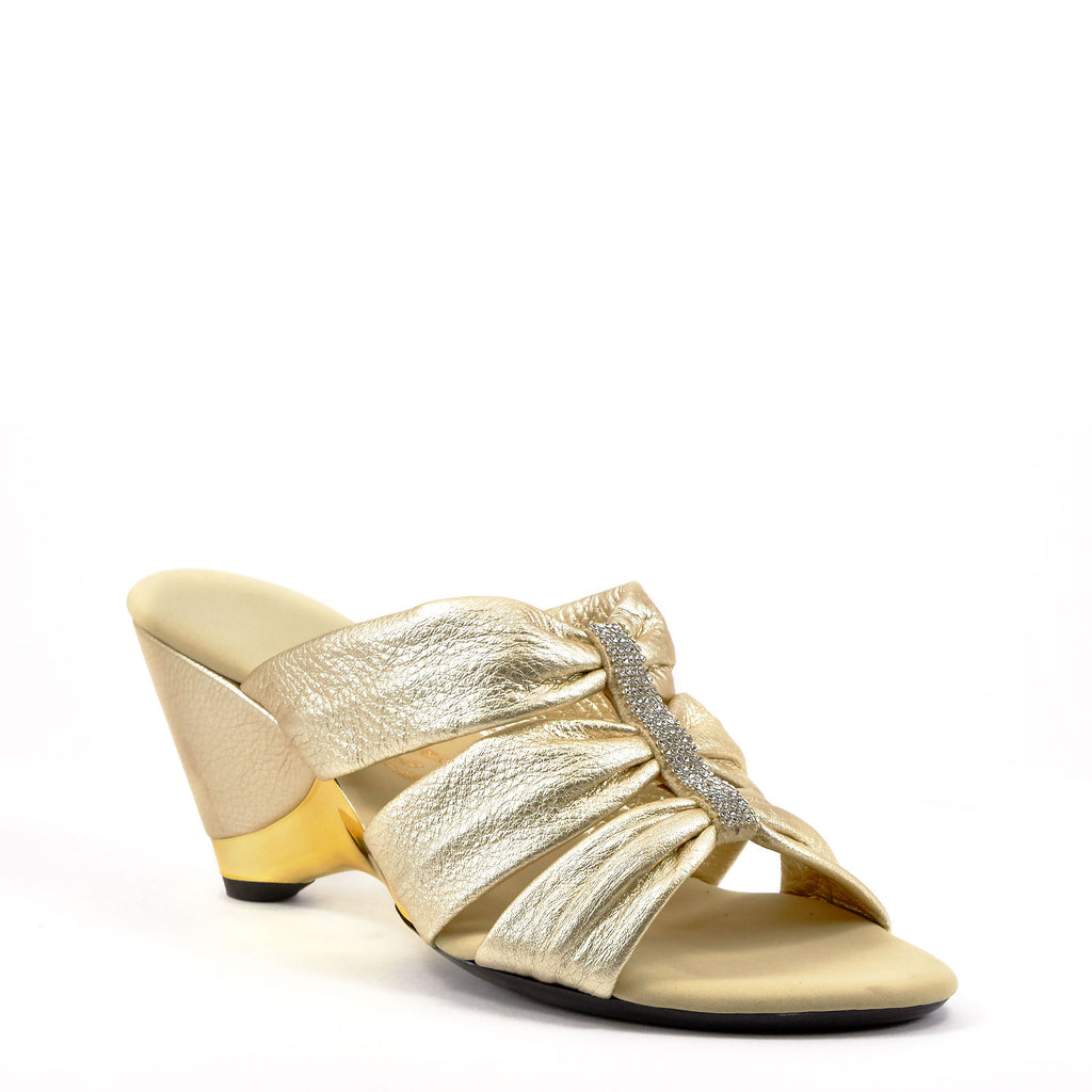 Gold Dress Wedges By Onex Shoes